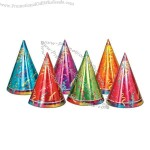"Prismatic 7"" party hats"