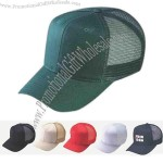 Pro-style twill cap with mesh back.