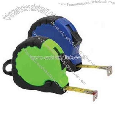 Custom Professional 25 foot tape measure with rubber grip
