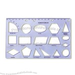 Promotion Plastic Geometry Template Ruler