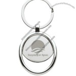 Promotional Chrome Key Tag with Curve Bottle Opener