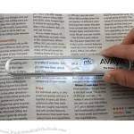 Promotional Product - Fratula Reading Magnifier with Touch Sensor Light
