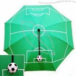 Promotional Umbrella with Soccer Surface Printing