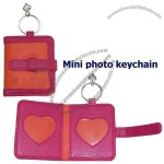 PU Leather Mini Photo Keychain