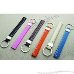 Pu Leather Tape Measure Ruler Keychain