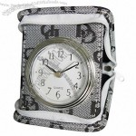 PU Leather Travel Clock with Alarm(1)