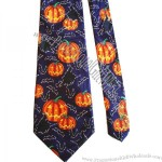 PUMPKINS AND BATS - POLYESTER NECK TIE