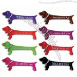 "Puppy Pal - 4 1/2"" plastic Dachshund shaped pen"