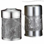 Pure Tin Tea Caddy