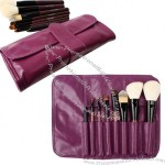 Purple Cosmetic Brush Bag