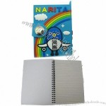PVC notebook with keychain