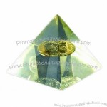 Pyramid Paperweight with Embedment and Existing Molding