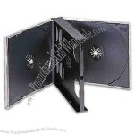 Quad-4 jewel case holds up to 4 CD's in one case.