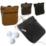 Quality Leather Zippered Valuables Pouch
