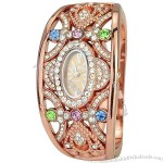 Quartz Movement Rhinestones Bracelet Dress Watch