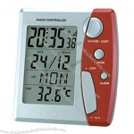 Radio Controlled Clock With LCD Calendar & Thermometer(1)