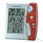 Radio Controlled Clock With LCD Calendar & Thermometer