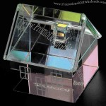 Rainbow Crystal House Paperweight