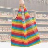 Rainbow Portable Environmental Protection Foldable Shopping Bag
