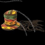 Rasta top hat with dreads
