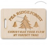 "Rectangle Camp Fire Wood Tags 2"" x 3"""