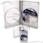 Rectangle CD-DVD Metal Tin Case with Round Window