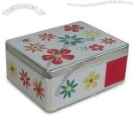 Rectangle Tin Box with Hinge and Inside Body