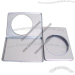Rectangular CD Tin Case with Clear Window