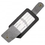 Recycled Bonded Leather Luggage Tag