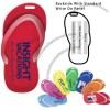 Recycled sandal shaped luggage tag