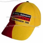 Red and Yellow Promotional Baseball Cap,