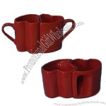 Red Ceramic Lovers Cup