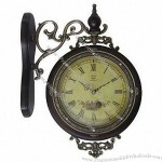 Red Crown Genuine Antique Bell / Double-Sided Clock