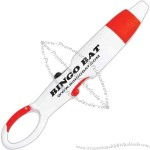 Red - Dual color carabiner pen with red and black ink