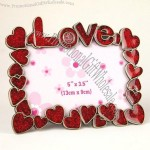 Red Heart Alloy Photo Frame