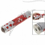 Red Heart Patterns Paper Wrapped Magic Kaleidoscope Children Toy