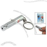 Red Light Hi Output Laser Pointer and Key Chain Silvery