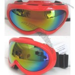 Red Mirror Ski Goggles Glasses