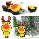 Red-nosed Reindeer USB Flash Drive for Xmas