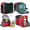 Red Portable Cooler Bags for Picnic One Shoulder