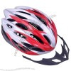 Red & Silvery Color, Black Foam Material Bicycle Helmet