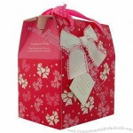 Red Sweet Love Folding Cardboard Gift Box, Used for Wedding Candy, Gift Packing