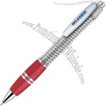Red - Unique click action pen with chrome accents.