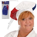 Red, white and blue chef's hat,