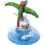 Regular size palm tree island inflatable drink holder