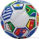 Regulation size soccer ball.