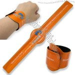 Relective Slap Bracelet with One Disc Shaped Prominence - 3 x 30 cm