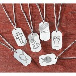 Religious Dog Tag Necklaces