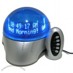 "Remote Control ""Lucky Ball"" Floating Message Clock"
