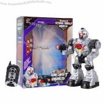 Remote Control Shooting Robot with LED Light, White and Silver Options
